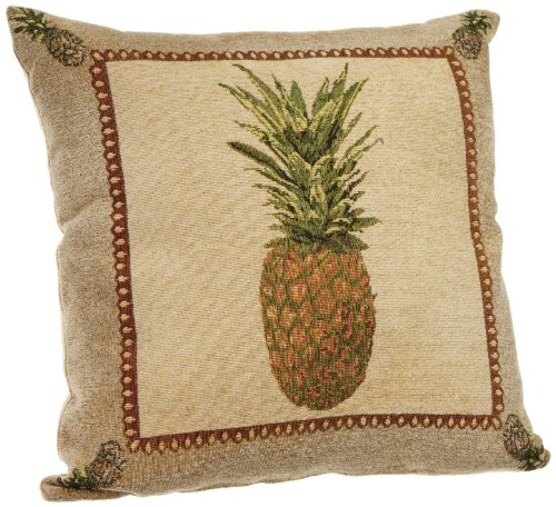Jacquard Decorative Pillows : Brentwood Panama Jacquard Chenille 18-by-18-inch Knife Edge Decorative Pillow, Pineapple ...
